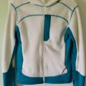 Mountain Hardware white and blue jacket M